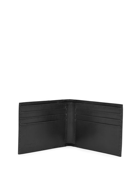 Limited Edition Tramezza Leather Bifold Wallet, Gray