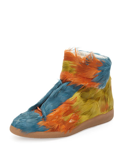 Future Duck Feather High-Top Sneaker, Multi