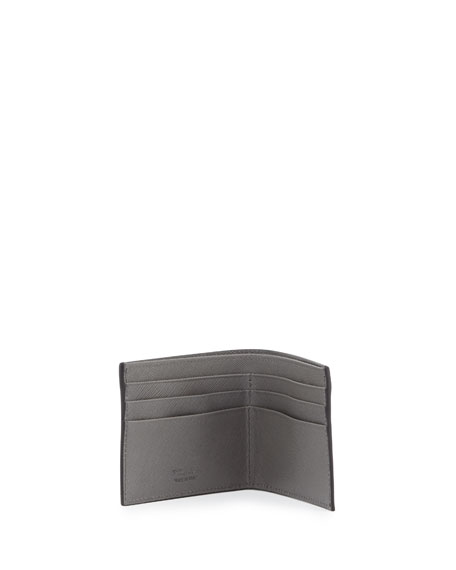 Saffiano Leather Wallet Bi-Fold Wallet