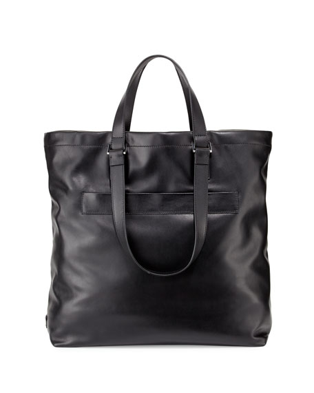 prada chain bag - Prada Leather Tote Bag, Black