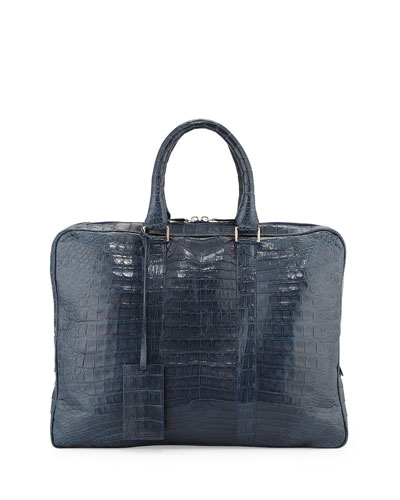Crocodile Compartment Skinny Briefcase