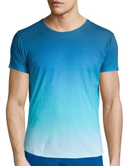 Ombre Short-Sleeve Crewneck T-Shirt, Light Blue