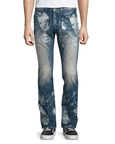 Barracuda Antique-Washed Denim Jeans, Blue