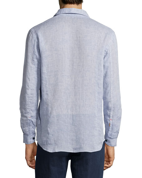 Morton Tailored Long-Sleeve Shirt, Navy