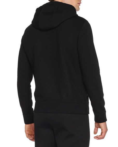 Monster Eyes Zip-Up Hoodie, Black