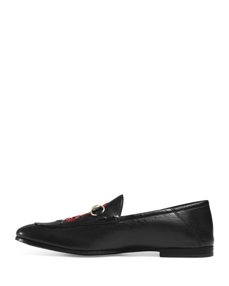 Brixton Snake Fold-Back Loafer, Black