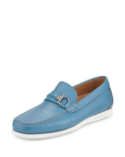 Lorien Leather Gancio Loafer, Saxony Blue