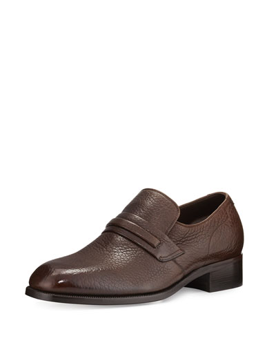 Wilson Banded Leather Loafer, Brown