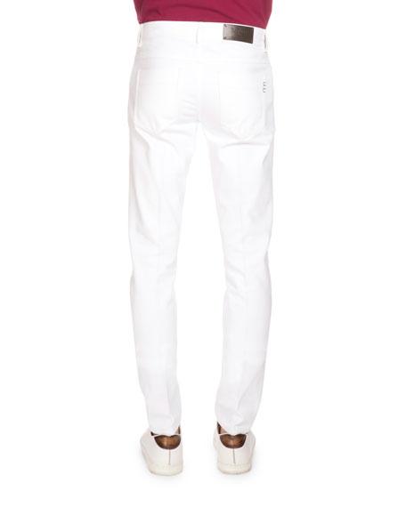 Five-Pocket Denim Jeans, Optical White