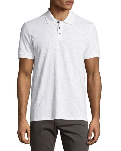 Slub Polo Shirt  White