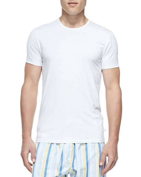 Jack Pima Cotton Stretch Cre New Undershirt, White
