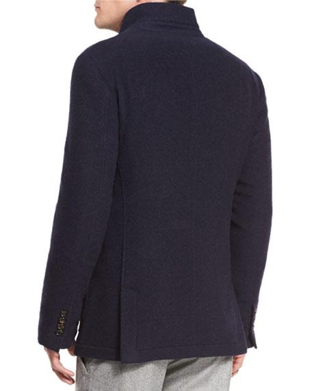 Hybrid Cashmere Sport Coat, Navy