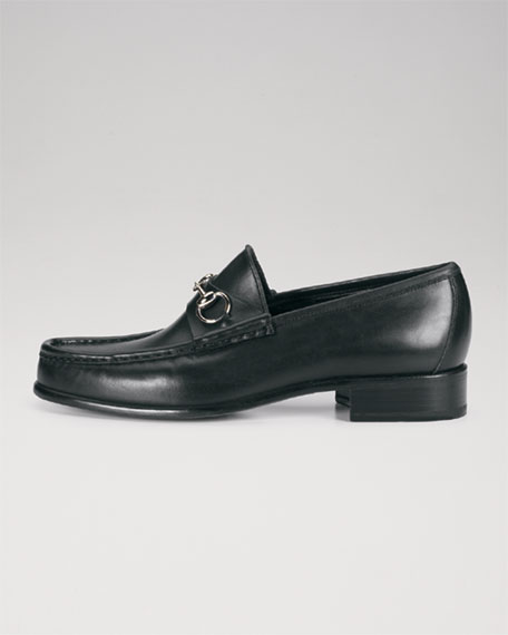 Classic Leather Horsebit Loafer, Black