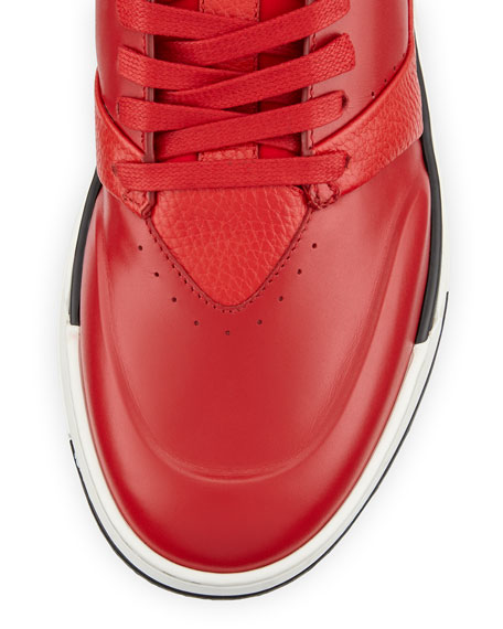Men's B Court Leather High-Top Sneakers