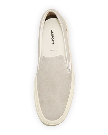 Cambridge Suede Slip-On Sneaker, Light Gray