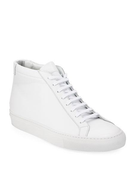 Original Achilles Men's Leather Mid-Top Sneakers, White