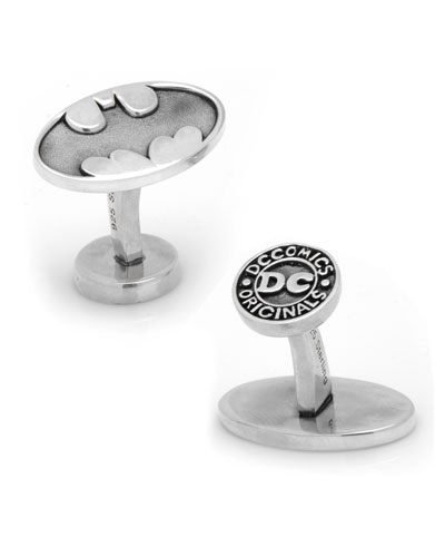 Sterling Silver Batman Cuff Links
