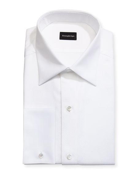 Woven & Pique Tuxedo Shirt