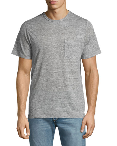 Owen Heather Linen Pocket T-Shirt