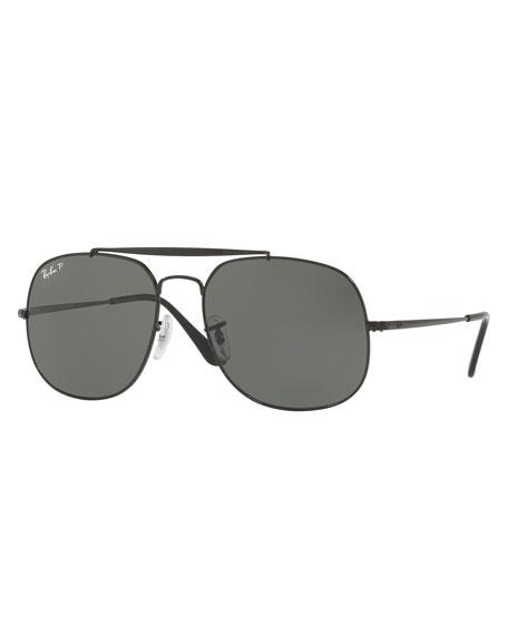 The General Aviator Polarized Sunglasses, Black