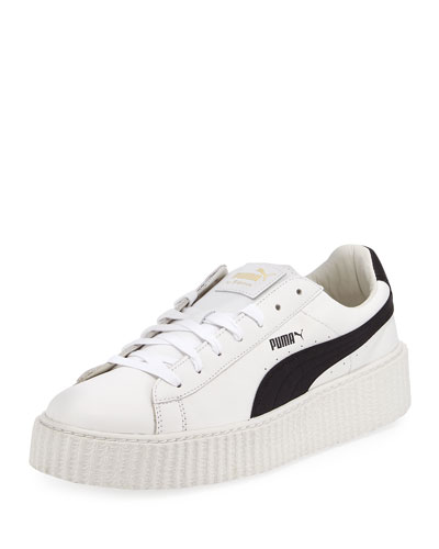 42a45f87df7 x Fenty Puma by Rihanna Men s Cracked Leather Creeper Sneakers White