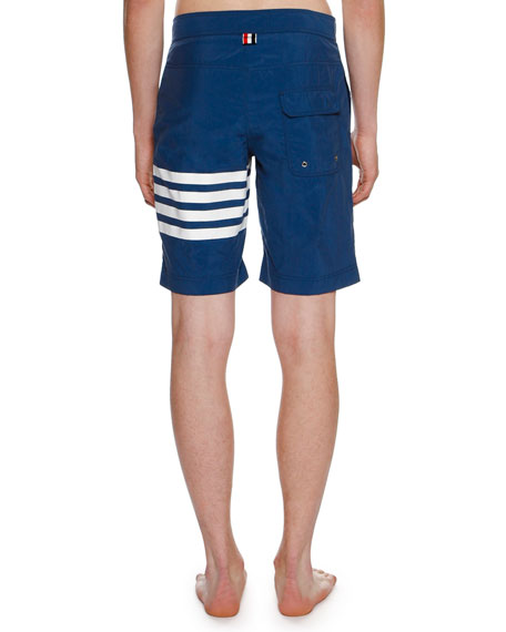 4-Bar Striped Swim Trunks
