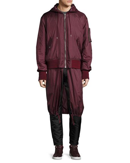 Clemente Hybrid Hooded Bomber Jacket