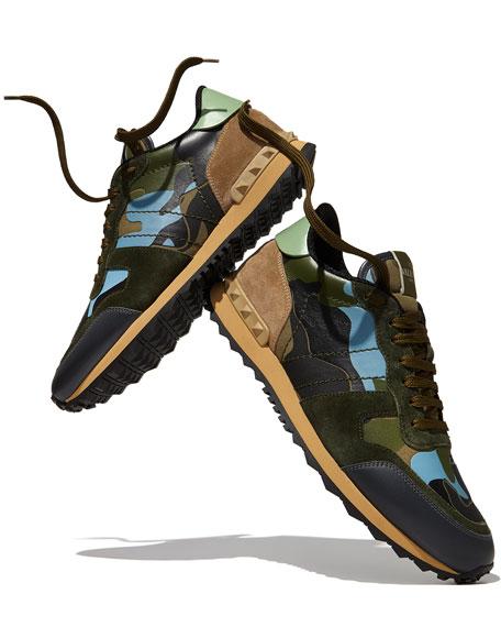 Men's Rockrunner Camo-Print Sneaker