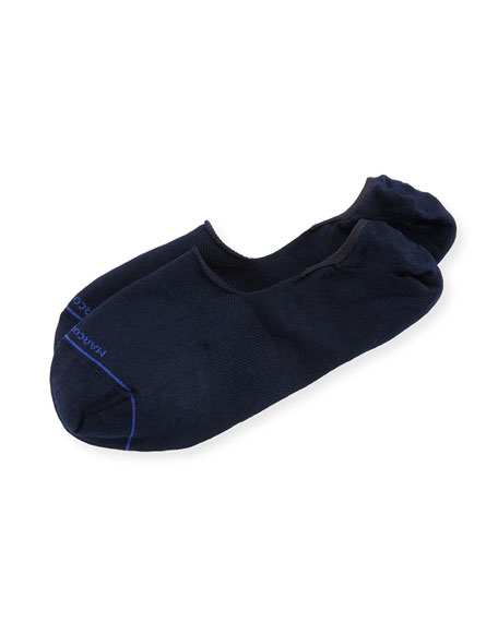 Invisible Touch Solid Now-Show Socks, Navy