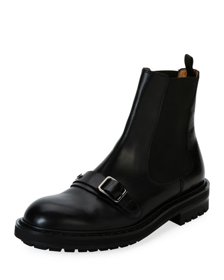 Alexander McQueen Leather Chelsea Boot, Black