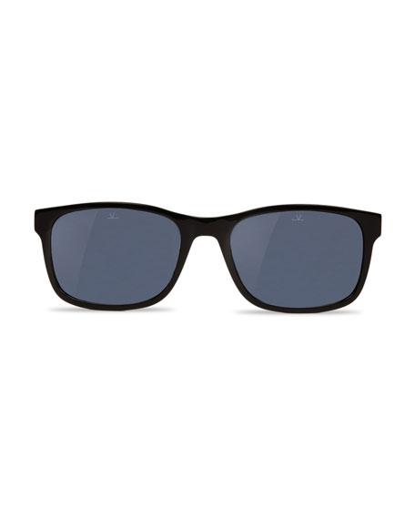 District Medium Rectangular Sunglasses, Black
