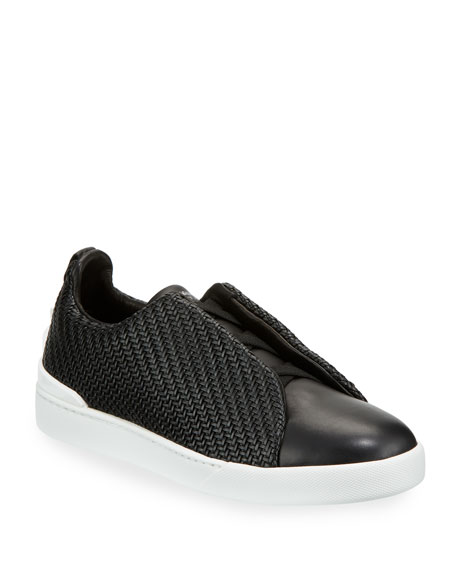 17e360dc Men's Pelle Tessuta™ Triple-Stitch Slip-On Sneakers Black