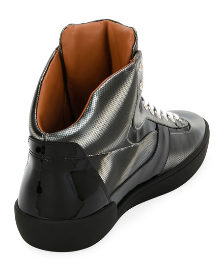 Men's Eroy Cat Eye Metallic High-top Sneakers