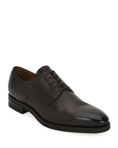 Scrivani Deerskin Leather Oxford Shoe
