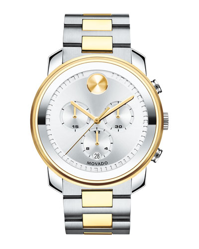 44mm Bold Chronograph Watch  Silver