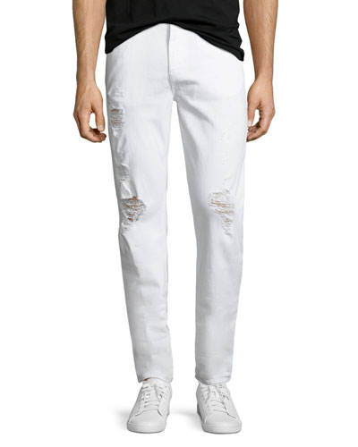 Tyler Deconstructed Slim Jeans, White