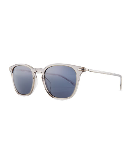 Heaton Square Acetate Sunglasses, Gray/Blue