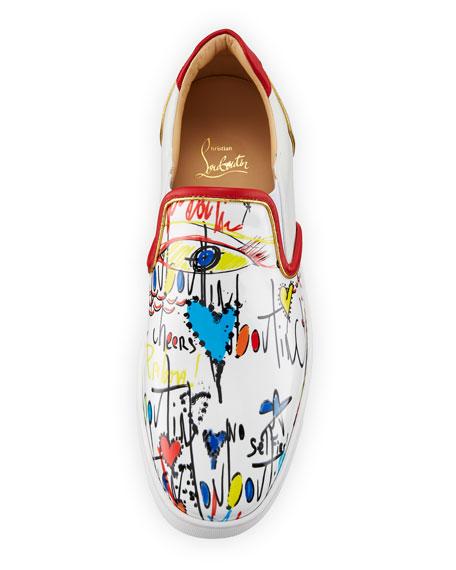 Sailor Boat Flat Patent Slip-On Sneaker