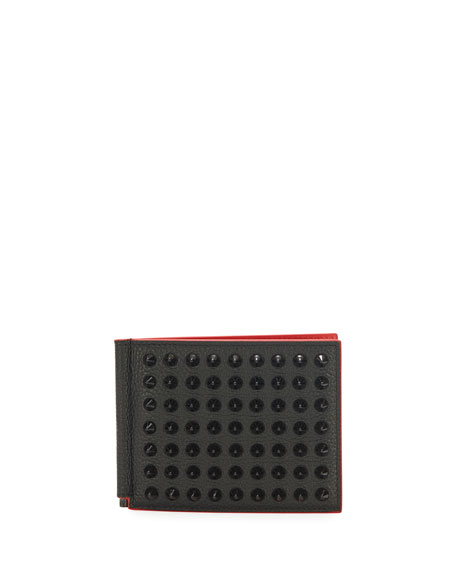 Clipsos Studded Leather Bi-Fold Wallet