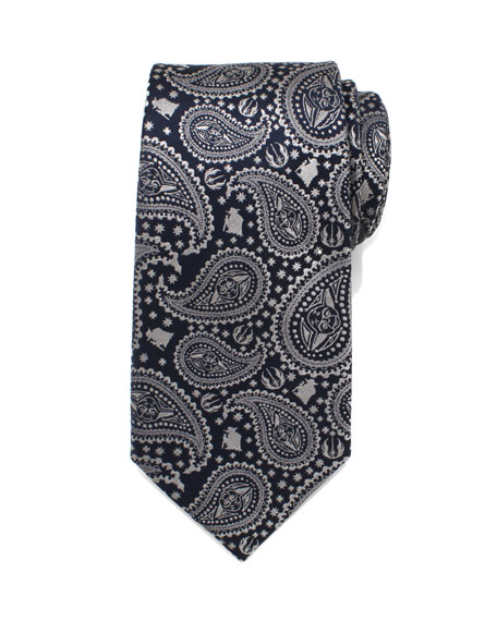 Cufflinks Inc. Star Wars Yoda Paisley-Print Silk Tie