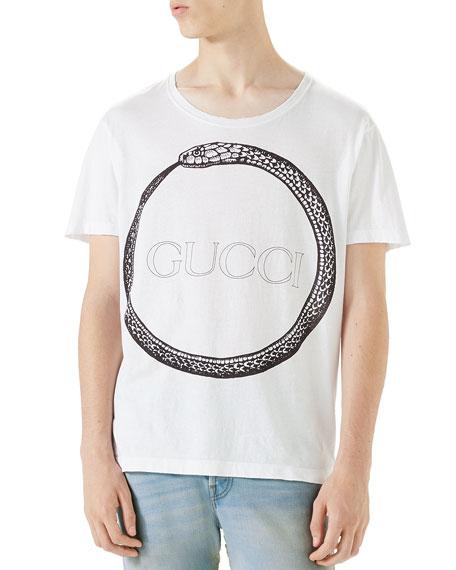 b91c9676bf5 Gucci Ouroboros-Print T-Shirt