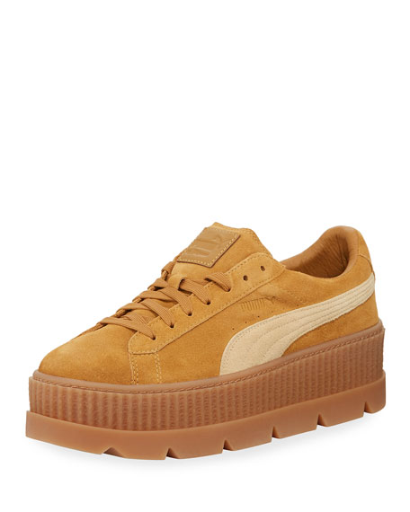 Low-Top Suede Cleated Creeper Sneaker