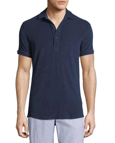 Image 1 of 1: Sebastian Terry Cloth Polo Shirt