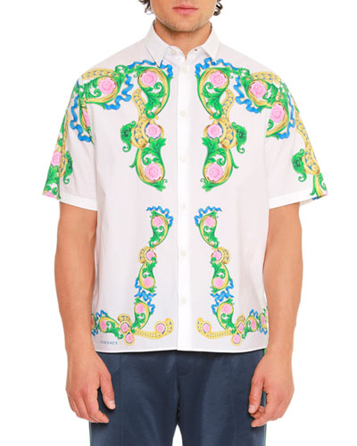 Signature Miami-Printed Short-Sleeve Sport Shirt