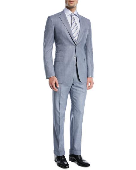Windowpane Wool Two-Piece Suit