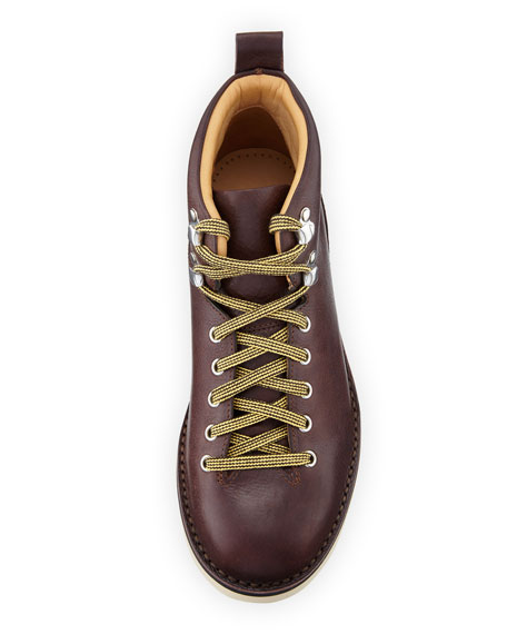 Leather Lace-Up Boot