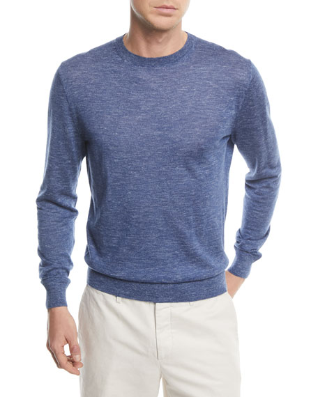 Image 1 of 1: Cashmere-Blend Crewneck Sweater