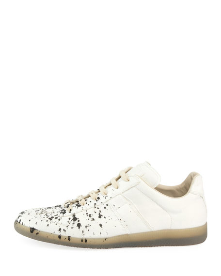 Splatter-Print Painter Low-Top Sneaker