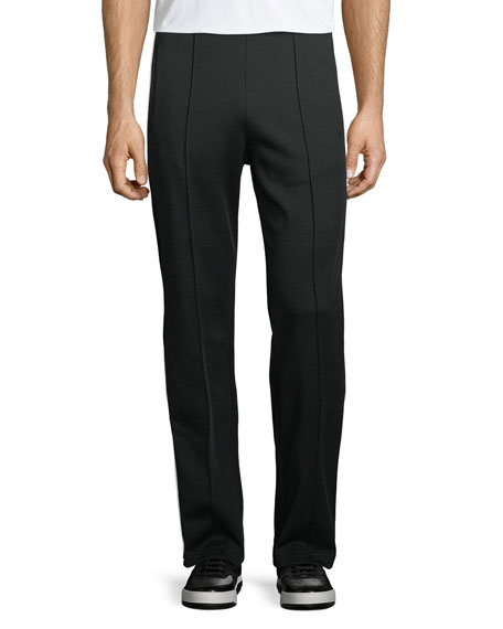 Image 1 of 1: Front-Seam Knit Trousers