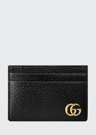 Men's Leather Credit Card Case with Money Clip